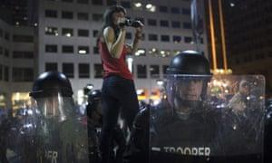 cleveland police protest films video