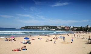 Manly beach in Sydney, Australia.