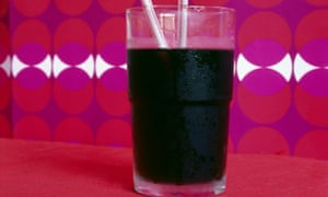 Glass of fizzy cola