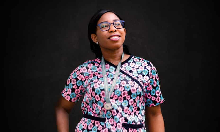 Juliet Anyanwu, a Covid response nurse in Lagos, Nigeria.