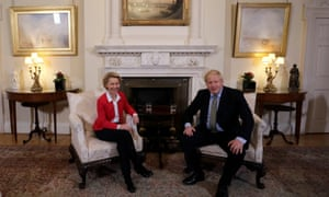 Brexit<br>Prime Minister Boris Johnson and EU Commission president Ursula von der Leyen in a meeting in Downing Street, London. PA Photo. Picture date: Wednesday January 8, 2020. See PA story POLITICS Brexit. Photo credit should read: Kirsty Wigglesworth/PA Wire