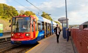 Supertram at Sheffield Station tram stop