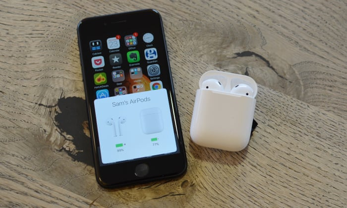 31cf3474f41 AirPods review: the best non-isolating wireless earbuds, but only for Apple  | Technology | The Guardian