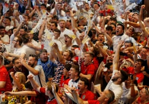 England fans back is Bristol go berserk.