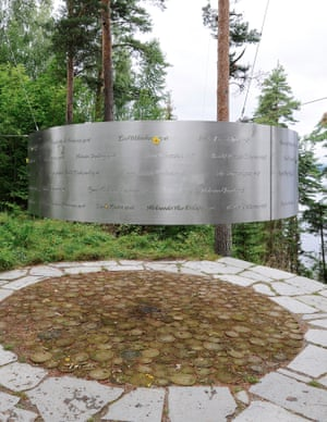 The 3RW memorial, inscribed with victims' names