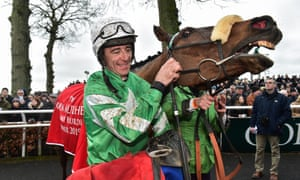 Davy Russell with Presenting Percy after winning the Galmoy Hurdle.