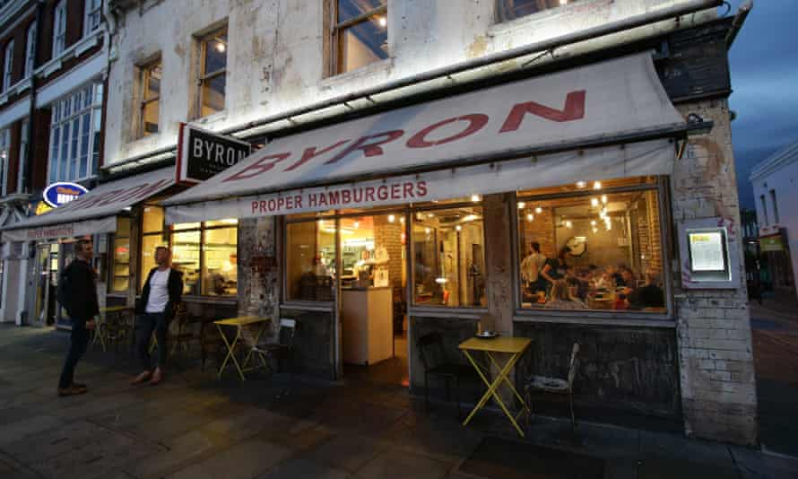 A branch of Byron in Islington, north London.