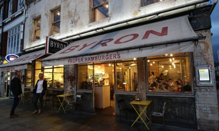 A branch of Byron Hamburgers in London.