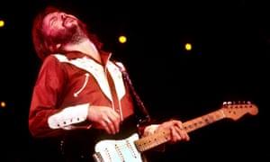 Heartbreaking … Clapton on stage in 1974