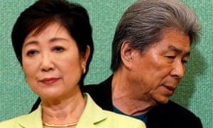 Former minister Yuriko Koike and her rival for Tokyo governor, the journalist Shuntaro Torigoe.