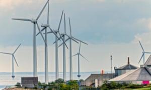 A windfarm in Denmark