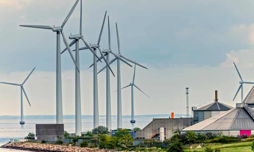 A wind farm in Copenhagen.
