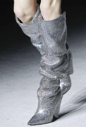Saint Laurent's £6,855 rhinestone boots.