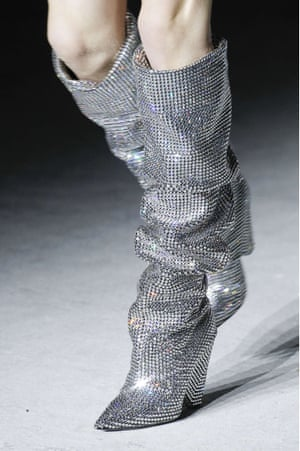Borrowed... Disco boots, from Saint Laurent's AW17 collection.