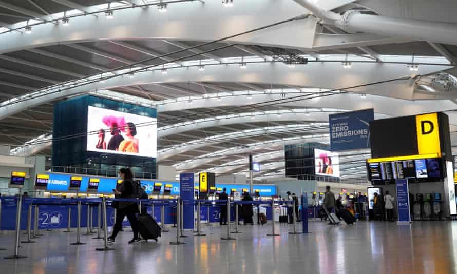 Terminal 5 departures of Heathrow Airport in December
