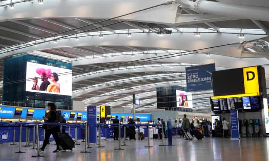 Heathrow departures hall at Terminal 5