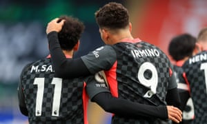 Two goals each for Liverpool's Salah and Firmino.