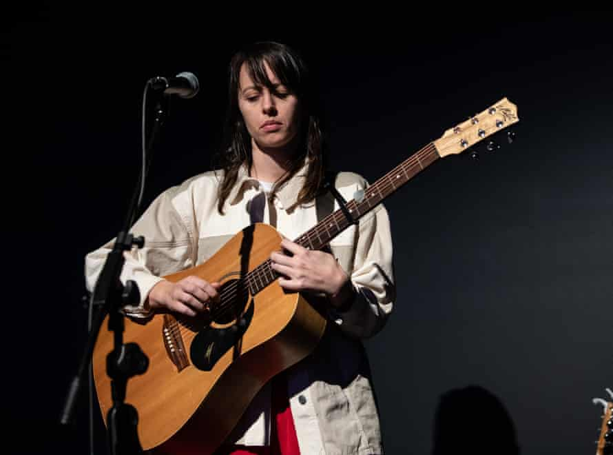 Australian musician Gordi (Sophie Payten) performs at the Powerhouse Museum in Sydney in July 2020.