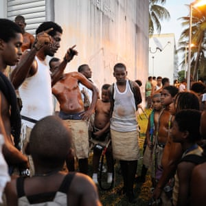 Members of the Mas Ka Klé group in Les Abymes, Guadeloupe, 2012 In the French Antilles, and Guadeloupe in particular, the memory of colonial slavery is kept alive through the carnival tradition and the masks – or Mas Ka Kle – which Lo Calzo defines as symbols of black resistance