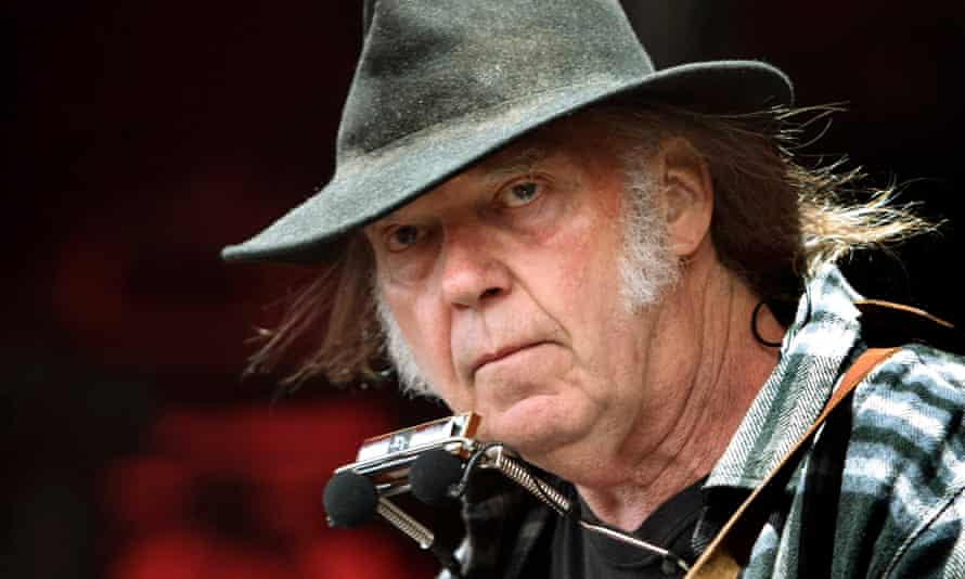 Neil Young performing in 2016.