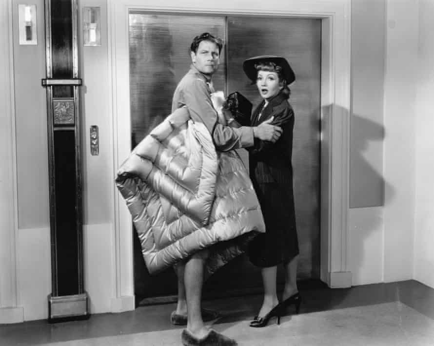 Joel McCrea and Claudette Colbert in The Palm Beach Story