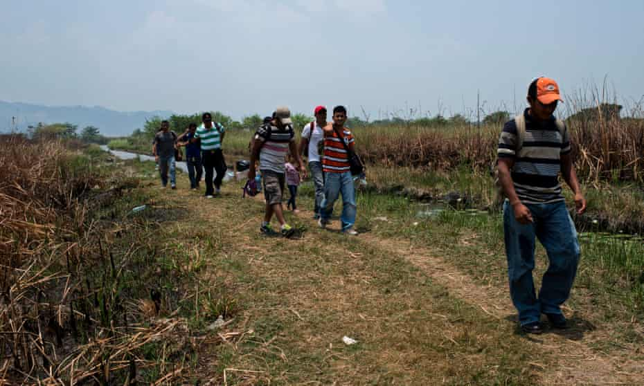 Migrants from Central America are smuggled from Guatemala into Mexico via the San Pedro river. Then those that have enough money they hire cattle tracks to take them to a nearby village, otherwise they have to walk for 60km to Tenosique, Tabasco.