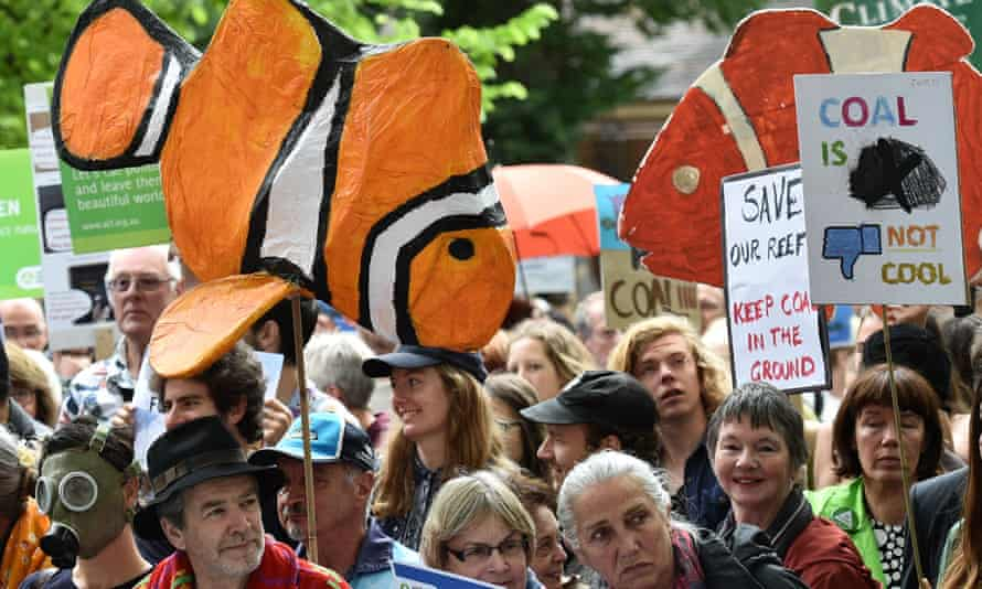 A rally against the Adani coalmine in Melbourne