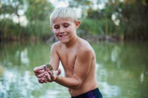 Kyper Woods with a young Eastern Long-necked Turtle, Gayini