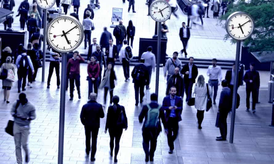 Workers making the daily commute back home at the end of the working day