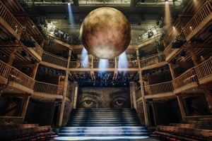 Cunning … a giant gold globe dominates the set of Imperium – it's inflatable.