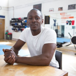 Cyle Carth of 'Good Guys decorating' at Carney's Community centre in Battersea.