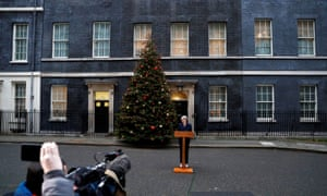 Theresa May speaking to the media outside Number 10