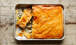 Thomasina Miers' spanakopita (spinach and feta pie).