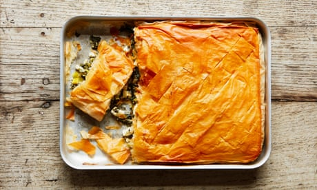 Thomasina Miers' recipe for spinach and feta filo pie