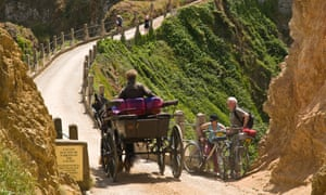 A horsedrawn carriage on Sark
