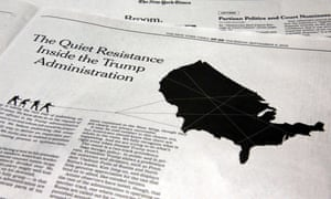 """The New York Times published an anonymous opinion piece Thursday detailing a White House """"resistance""""."""