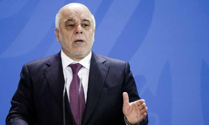 Iraq's prime minister, Haider al-Abadi.