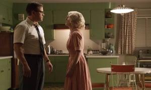 Matt Damon and Julianne Moore in a scene from Suburbicon.