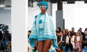Model on the catwalk Michael Kors  Spring Summer 2019 show in New York