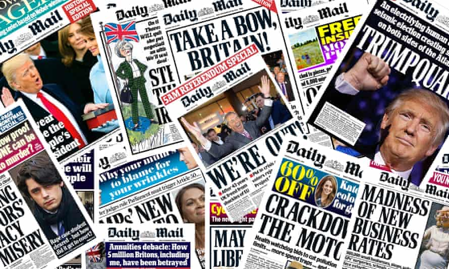 Daily Mail front pages.