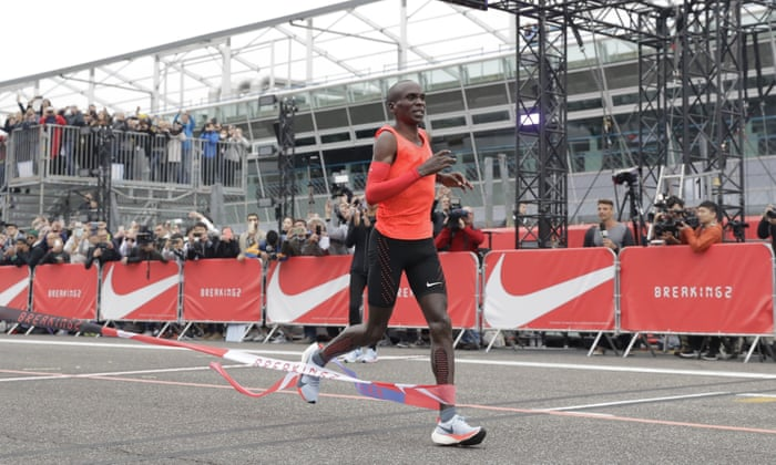 adf874612088 Eliud Kipchoge falls short by 26 seconds but more  moonshots  ruled out
