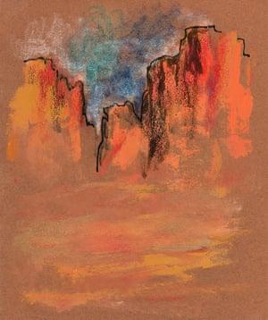 Arizona landscape by Orson Welles