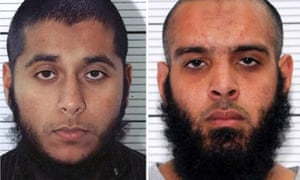Police mugshots of Khobaib Hussain and Naweed Ali, who were hired as delivery drivers.