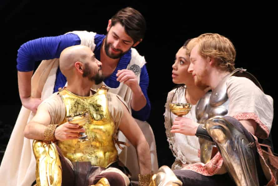 A sprawling script: Arya Shahi, Curtis Gillen, Sam- Morales and Matt Nuernberger in Pericles.