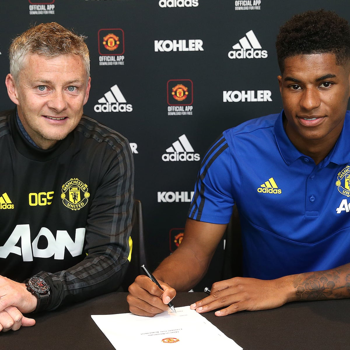 Marcus Rashford Signs Four Year Contract At Manchester United Football The Guardian