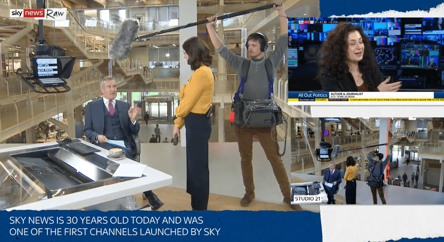 Compared to the gentle ebb and flow of the backstage news gathering, Sky News looks like a circus.