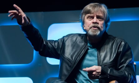 'A grumpy guy on an island' … Mark Hamill tries to explain miserable Luke Skywalker in The Last Jedi.