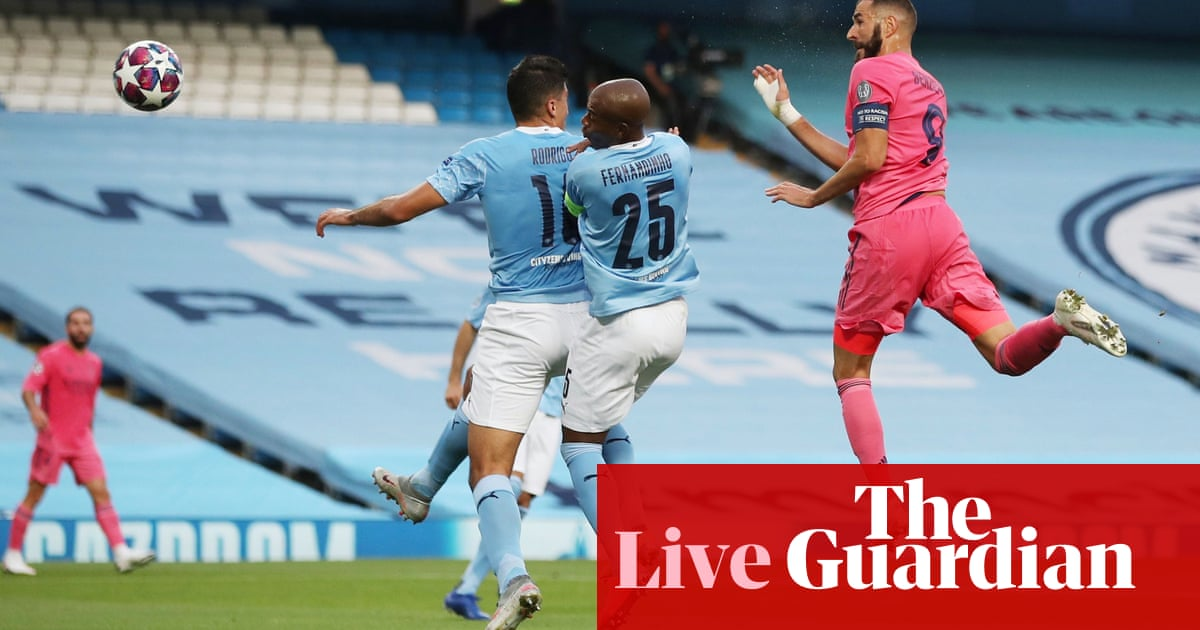 Manchester City v Real Madrid: Champions League last 16, second leg – live!