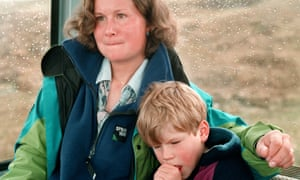 Alison Hargreaves and son Tom Ballard in 1995.