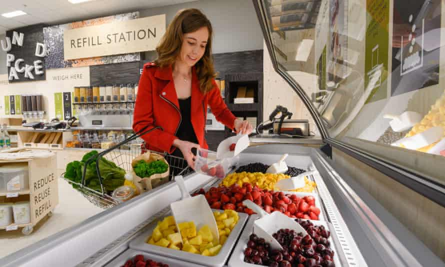 The frozen pick and mix available in the Waitrose store in Botley Road, Oxford, as part of the 'Waitrose Unpacked' trial, which will allow customers to fill up their own containers with products
